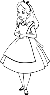 Small Picture Cool Alice In Wonderland Coloring Pages Alice In Wonderland