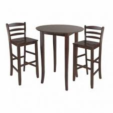 dining table room height drjavili fiona pc tall round table dining set winsome trading
