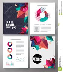 brochure template design for an annual project stock vector brochure template design for an annual project