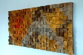 wood wall art rustic metallic modern