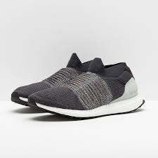 Adidas <b>Mens</b> Ultraboost Laceless - Carbon/Dgh <b>Solid</b> Grey/Ash Silver