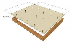 Large Dog House Plans   MyOutdoorPlans   Free Woodworking Plans    Installing the plywood flooring