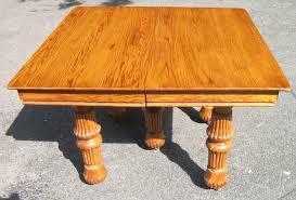 yugoslavian carved oak dining suite