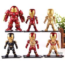 <b>Marvel Avengers</b> Hulk <b>Iron</b> Man Action Figure <b>Toy 6pcs</b>/<b>set</b> | Shopee ...