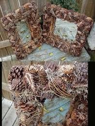 cabin decor lodge sled: moose decor real pinecone acorn grapevine moss primitive mirror rustic lodge decor