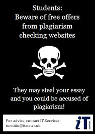 """warn students about free plagiarism checking websites   turnitin    on more than one occasion  we have received unsolicited emails from     volunteers     offering """"free plagiarism checking websites for students and teachers"""""""