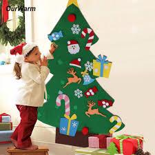OurWarm New Year Gifts <b>Kids DIY Felt Christmas</b> Tree Decorations ...