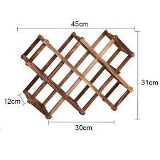 Online Shop Wooden Red Wine Rack 10 <b>Bottle Holder Mount</b> Bar ...