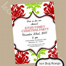 Features Party Dress Enchanting Christmas Party Invitation ...