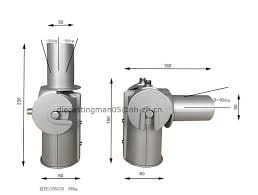 50mm 60mm led street light fixtures adjustable angle pite bolt adaptor adjustable lighting fixtures