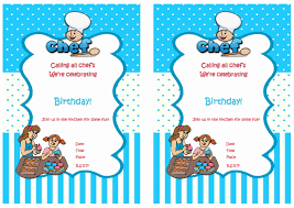 cooking and baking printable birthday party invitations cooking and baking printable birthday party invitations