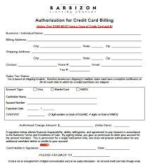 literature lighting company credit card verification form