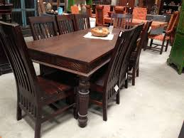 Traditional Dining Room Chairs Dining Room Table With Chairs And Carved Dark Brown High Gloss