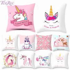 <b>FengRise 45x45cm Unicorn</b> Cushion Cover Unicorn Party ...