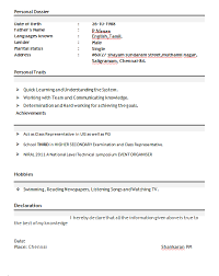 resume for freshers format download template freshers resume samples