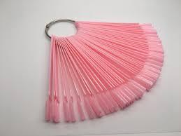 Палитра для <b>лаков</b> веер, розовая. <b>Типсы для образцов</b> на кольце ...