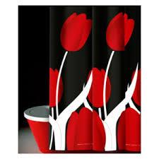 Bacchetta Shower Curtain Tulipani Rosso Txt <b>00861</b> - Bathroom ...