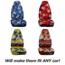 <b>Hawaiian Print</b> Car Seat Covers (Front, Semi-custom) Blue/Red ...