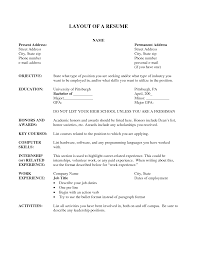 resume sample layout