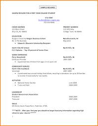 job resume format for college students ledger paper sample resume for a first year college student stu dent student by