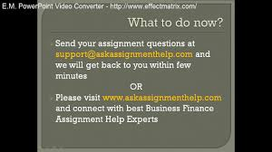 online exam help online test help online quiz help video business finance assignment help business finance homework help