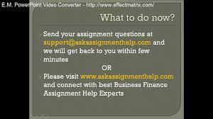 online exam help online test help online quiz help video business finance assignment help business finance homework help