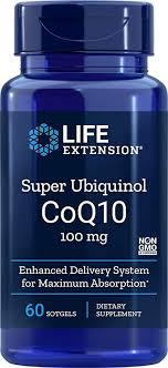 Life Extension Europe <b>Super Ubiquinol CoQ10</b> Soft Gels, 100 mg ...