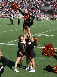 cheerleading stereotypes essays alexis being held by bases and a back spot in the stunt called quot prep