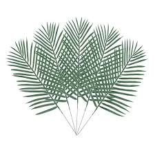 <b>10PCS Artificial Palm</b> Tree Faux Leaves Green <b>Plants</b> Greenery ...