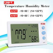 <b>UNI T A12T</b> A10T <b>Digital</b> Thermometer 10 50 (14~122F) Hygrometer ...