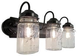 mason jar 3 light fixture oil rubbed bronze farmhouse bathroom vanity bath vanity lighting fixtures
