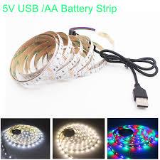 1M 2M 3M 4M <b>5M USB</b> LED Strip <b>DC 5V</b> Flexible Light Lamp ...