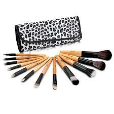 glow professional 12 piece makeup brush set leopard