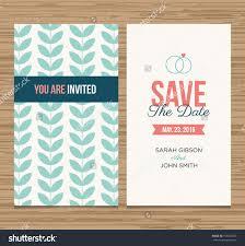 date invitation templates com wedding card invitation template editable pattern stock vector