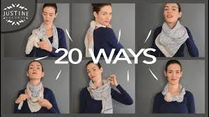 20 ways to wear a <b>scarf</b> + how-to tips   Justine Leconte - YouTube