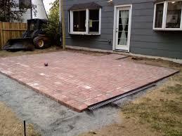 brick patio designs fire