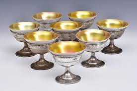 Set of <b>Eight</b> Sterling Silver Sherbets | Fairfield Auction, LLC