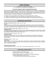 resume examples sample resumes for teenager sample resume of resume examples teenager resume objective job target as teacher and professional background as elementary