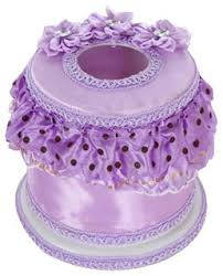 Elegant Round Tissue <b>Box</b> Paper Holder Tissue Holders,Purple ...