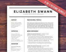 unique cover letter related items   etsyresume template word   free cover letter  cv template  teacher  modern professional resume