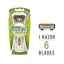 <b>Dorco PACE 4</b> Pro Razor for Men, 1 Handle + 4 Refill Razor Blades ...