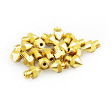 Gold <b>MK8 Brass</b> Nozzle 3D Printers Parts Extruder Threaded M6 ...