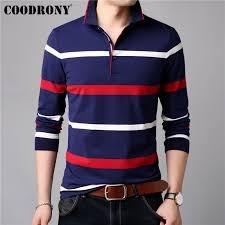 <b>COODRONY Long Sleeve</b> T Shirt Men Streetwear Tshirt Soft Cotton ...