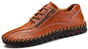 <b>IZZUMI Men Casual Shoes</b> Breathable Handmade Leather Shoes ...