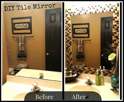 update bathroom mirror:  images about mirror border ideas on pinterest diy tiles tile and mirror makeover