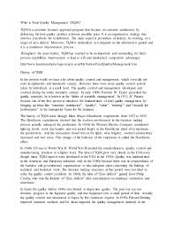 quality management essay  what is total quality