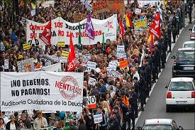 Image result for تظاهرات در 4 کشور اروپایی علیه بحران اقتصادی