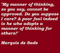 Supreme 8 brilliant quotes by marquis de sade image Hindi via Relatably.com