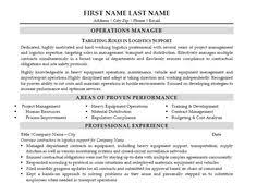 click here to download this transportation  amp  logistics specialist    click here to download this operations manager resume template  http
