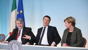 Risultati immagini per conferenza stampa Renzi Poletti Guidi jobs act